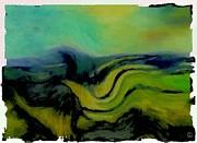 Undulating Green Print by Gun Legler