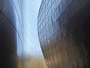 Frank Gehry Prints - Undulating Steel Print by Rona Black