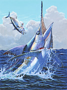 Marlin Azul Painting Posters - Unexpected Off0093 Poster by Carey Chen