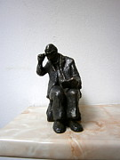 Realism  Sculpture Originals - Unexpected visitor by Nikola Litchkov