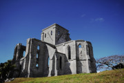 Unfinished Prints - Unfinished Church in Bermuda Print by Charline Xia