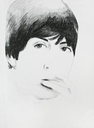 Mccartney Drawings - Unfinished McCartney by Angella Aliaga