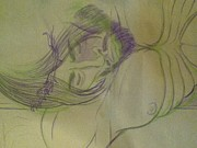 Christ Drawings - Unfinished My Christ by Dustin Allen