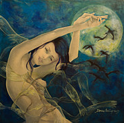 Full Moon Paintings - Unfinished Song by Dorina  Costras