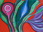 Stripes Pastels - Unfolding by Birgit Seeger-Brooks