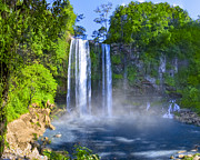 Mexican Landscapes Prints - Unforgettable Waterfalls of Chiapas Mexico Print by Mark E Tisdale