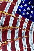 Abstract American Flag Paintings - Unfurled by Michael Greeley