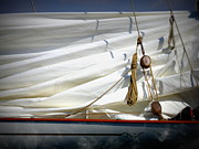 St.tropez Photo Prints - Unfurled Sail Print by Lainie Wrightson