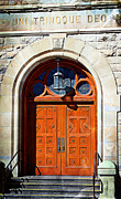 Entrance Door Digital Art Prints - Uni Trinoque Deo 1800s Print by Barbara Chichester