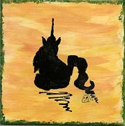 Unicorn At Rest Print by Gail Schmiedlin