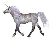 Corey Ford - Unicorn on White