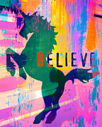 Believe Mixed Media - Unicorn to Believe In by Brandi Fitzgerald