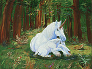 Gail Daley Framed Prints - Unicorns Lap Framed Print by Gail Daley