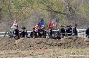 Civil War Photos - Union Artillery Embankment by Tommy Anderson