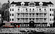 Black And Whit Prints - Union Bluff Hotel Print by Sybil Conley