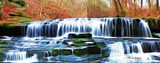 Lafayette Digital Art Prints - Union Camp Falls -  Union Camp Rd - Near Lafayette TN Print by EricaMaxine  Price