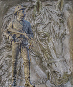 Cavalry Digital Art - Union Cavalry Trooper and Horse Gettysburg by Randy Steele