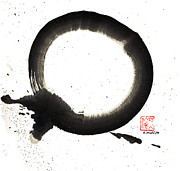 Buddhist Paintings - Union Enso by Ellen Miffitt