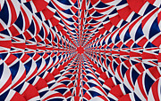 Steve Purnell Posters - Union Flag Abstract Poster by Steve Purnell