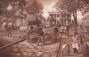 Yanks Prints - Union Hospital aka Widow Gordons Mansion Chickamauga Print by Alton  w Williams