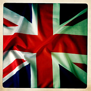 Abstract Design Prints - Union Jack Print by Les Cunliffe