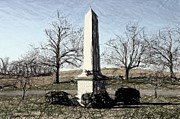 Battlefield Site Digital Art Prints - Union Memorial Stone - Perryville KY Print by Thia Stover
