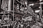 Union Pacific Prints - Union Pacific 838 in the Roundhouse Print by Ken Smith