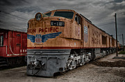 Train Yard Posters - Union Pacific Engine Poster by Mike Burgquist