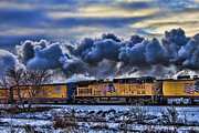 Jeff Swanson Metal Prints - Union Pacific Train Metal Print by Jeff Swanson