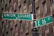 Sign Prints - Union Square West I Print by Susan Candelario