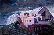 Cincinnati Paintings - Union Terminal by Larry  Womack