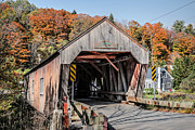 Lattice Framed Prints - Union Village Covered Bridge Thetford Vermont Framed Print by Edward Fielding