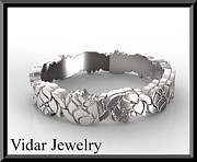 Featured Jewelry - Unique 14kt White Gold Lotus Flower Woman Wedding Ring by Roi Avidar