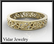 Featured Jewelry - Unique 14kt Yellow Gold Woman Wedding Ring by Roi Avidar