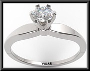 Roi Avidar - Unique Round Diamond 14k...