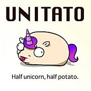 #unitato Half #unicorn Half #potato Print by Steven Griffin
