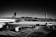 Airlines Photos - united airlines terminal OHare International airport Chicago Illinois USA by Joe Fox