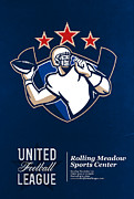 Ball Digital Art - United Gridiron Football League Poster by Aloysius Patrimonio