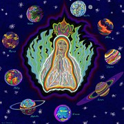 Queen Of Heaven Posters - United Planets of The Queen of Heaven Poster by Robert  SORENSEN