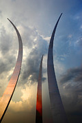 Honour Framed Prints - United States Air Force Memorial at Sunset Framed Print by James Brunker