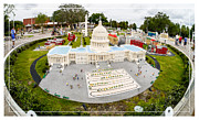 Amusement Park Posters - United States Capital Building at Legoland Poster by Edward Fielding