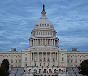 Kim Hojnacki Metal Prints - United States Capitol Building Metal Print by Kim Hojnacki