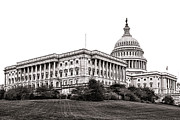 United States Capitol Framed Prints - United States Capitol Senate Wing Framed Print by Olivier Le Queinec