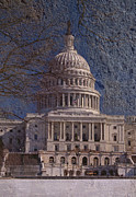 Seat Of Power Prints - United States Capitol Print by Skip Willits