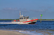 Fort Myers Beach Prints - United States Coast Guard Print by Kim Hojnacki