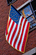 Patriotic Scenes Prints - United States Flag on Acorn Print by Joann Vitali