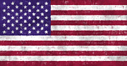 U S Flag Digital Art Posters - United States Flag Poster by World Art Prints And Designs