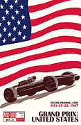 Rally Prints - United States Grand Prix 1967 Print by Nomad Art And  Design