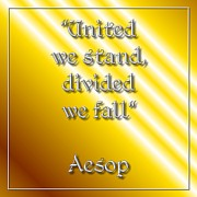 Itself Prints - United we stand Aesop 1 Print by Rose Santuci-Sofranko