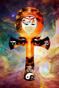 Ankh Posters - Universal Life - Harmony Artwork Poster by Sharon Cummings